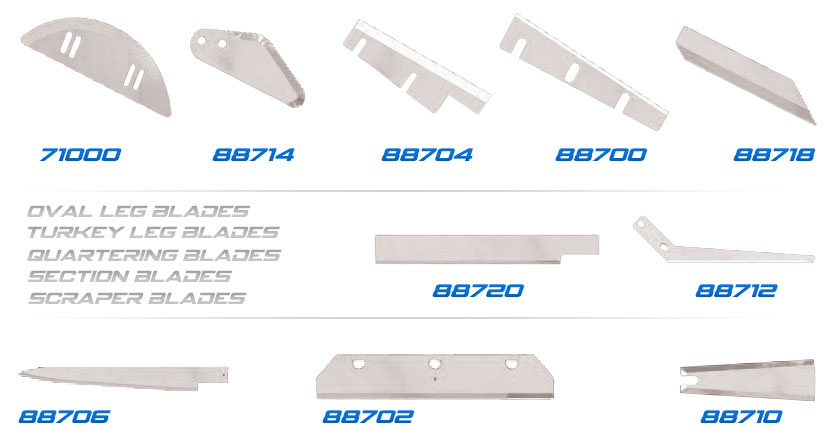 Specialty Blades for Poultry Processing
