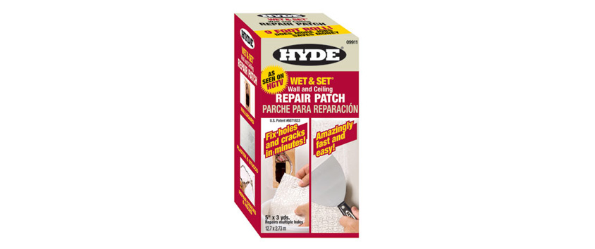 "Hyde Tools 09911 Wet & Set® Wall & Ceiling Repair Patch, 5"" x 9' Contractor's Roll"