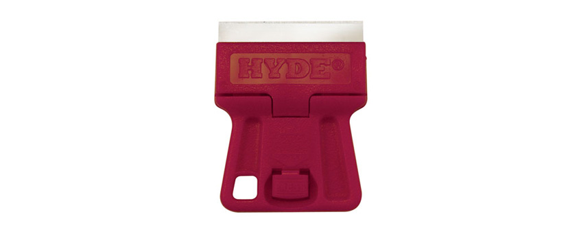 Hyde Tools 13020 Mini Glass Scraper (w/ Blade)