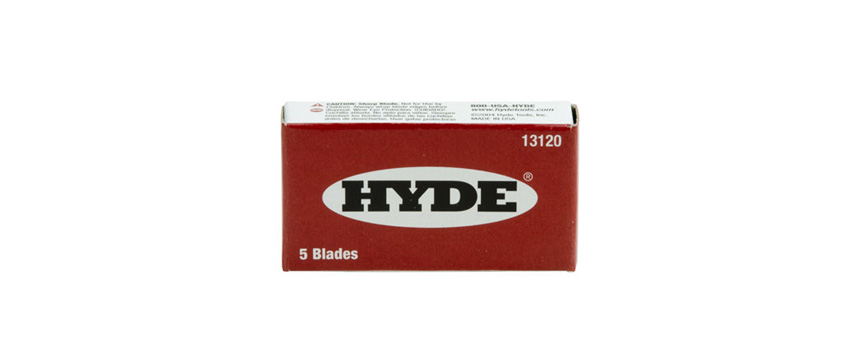 Hyde Tools 13120 Single Edge Blades, 5 Pack