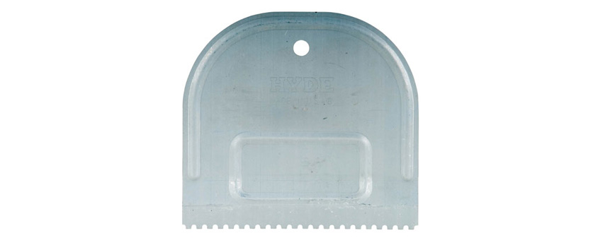 Hyde Tools 19090 U-Notch Metal Adhesive Spreader, 4-3/4""