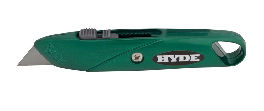Hyde Tools 42073 Top Slide Utility Knife, Green