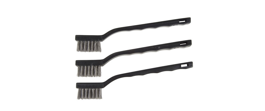 Hyde Tools 46650 Mini Brushes, Stainless Steel (3)
