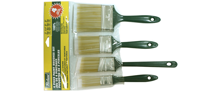 Richard 81304 4 pcs paint brush set polyester (1 '' - 1 1/2'' - 2'' - 3'')