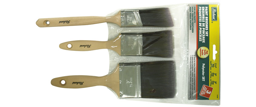Richard 81305 3 pcs paint brush set polyester SRT (1 1/2'' - 2'' - 3'')